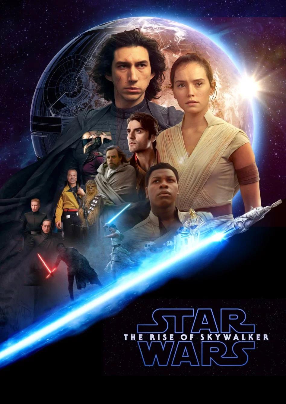 Star Wars The Rise of Skywalker FanArt Poster by Augen2 #rey
