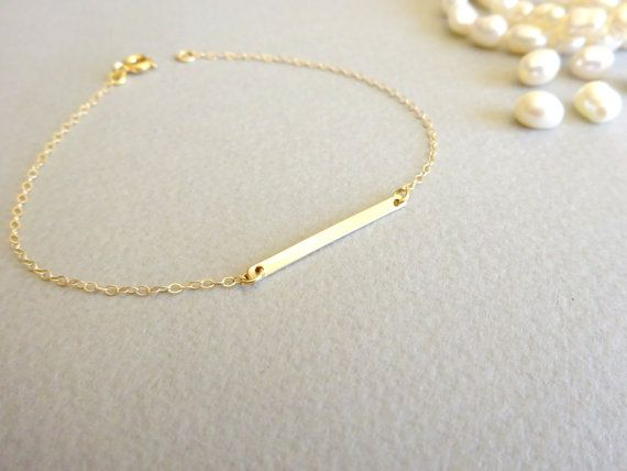 ankle filled pin gold bracelet anklet dainty delicate heart