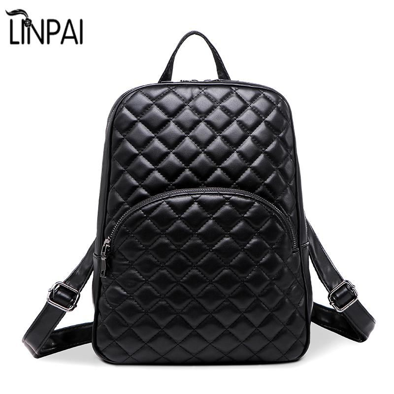 High Quality Good Leather Backpack New Quilted Fashion