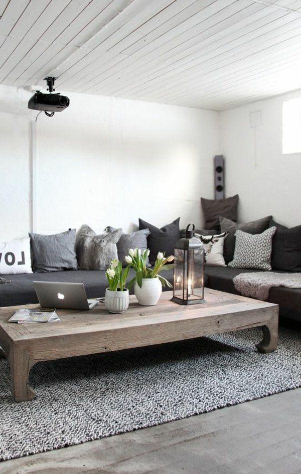 vous voulez dcorer votre salon en gris et blanc cest une trs bonne ide trouvez nos 82 suggestion pour une dco salon charmante