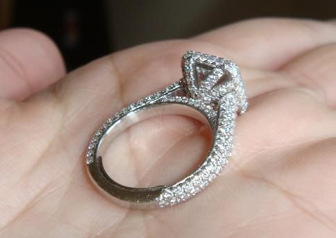 How Tight Should My Ring Be Weddingbee Cathedral Engagement Rings Wedding Rings Halo Ring Fit