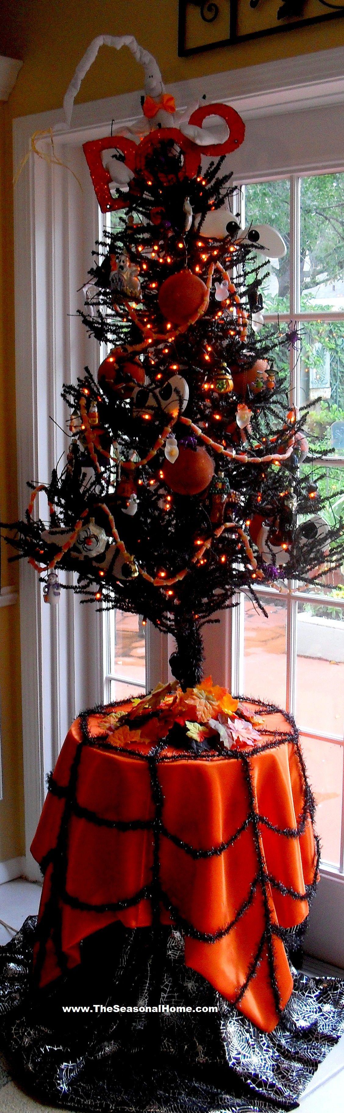 Halloween Twig Tree from The Seasonal Home blog BOO!!! Pinterest - halloween tree decoration
