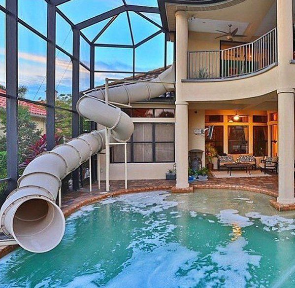 mens style on home stuffs indoor slides indoor swimming pools rh pinterest com houses with indoor pools near me houses with indoor pools for sale near me