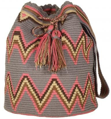 Ooak Mochila Bag Wayuu Technique Woven With First Quality Cotton