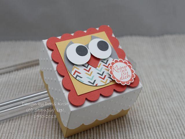 Adorable owl box by Doris Kroh