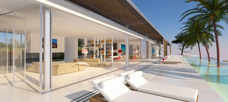 Modern Mediterranean Design Villa / Pool & Palms Home summer inspiration byCOCOON.com