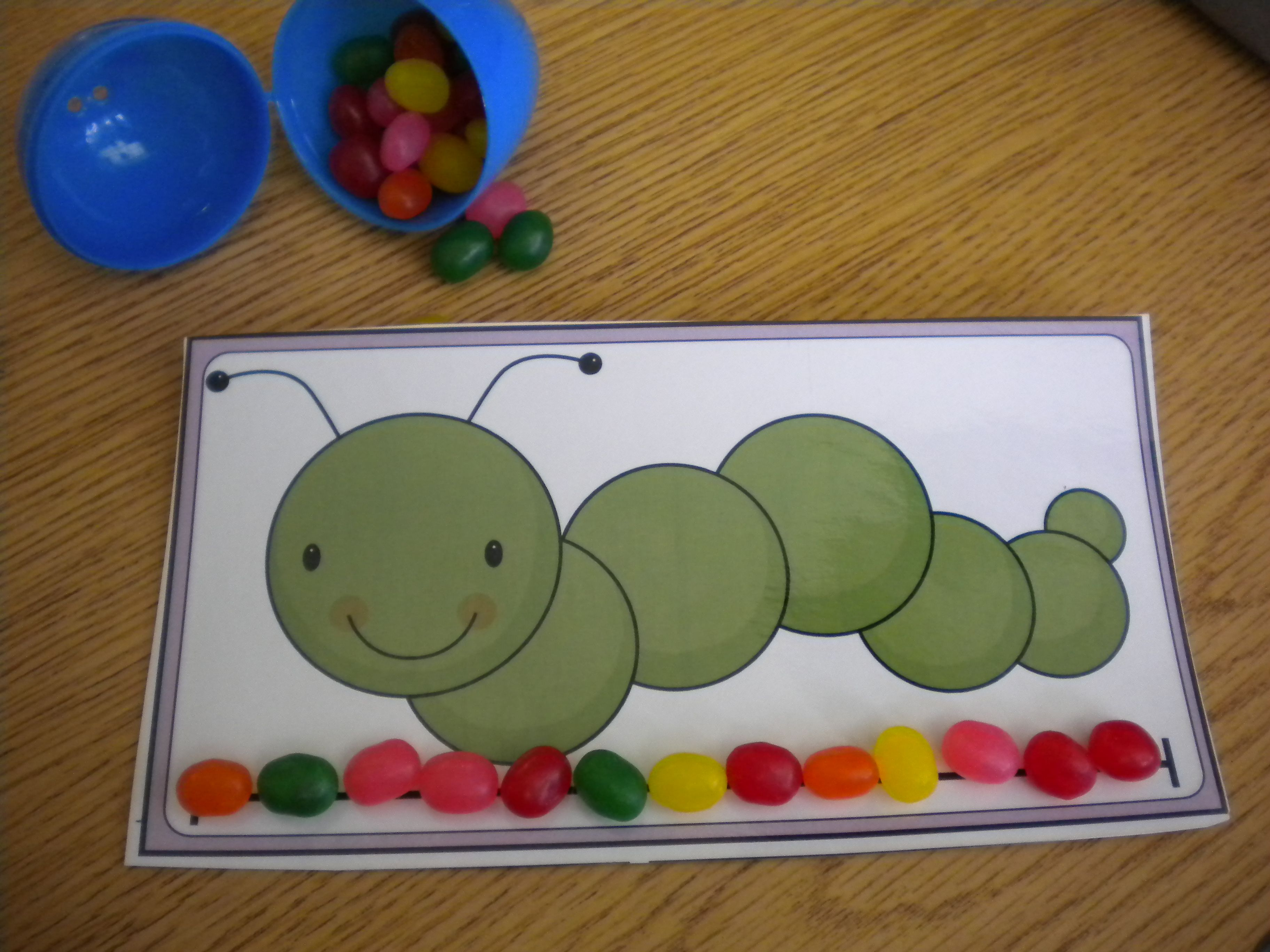Freebie Jelly Bean Measuring Activity