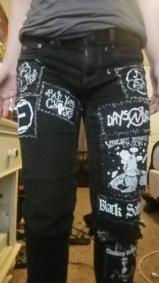 ff724829d2b Punk patched pants