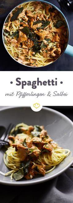 Spaghetti mit Pfifferlingen und Salbei
