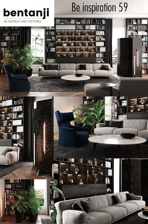 Virtual Design Living Room: Living Room Virtual Set 3d