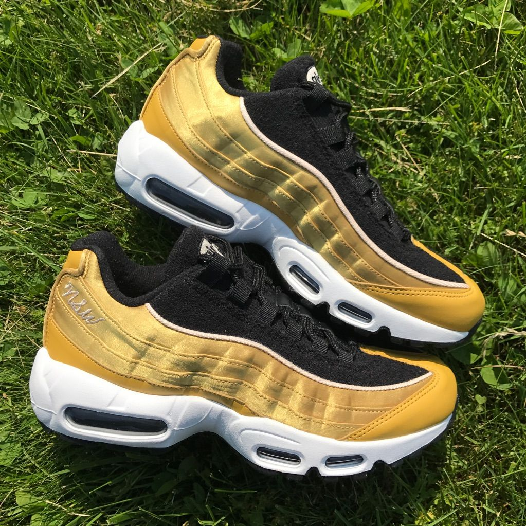 Nike Shoes New Nike Air Max 95 Lx Black Gold Women S 8 Color