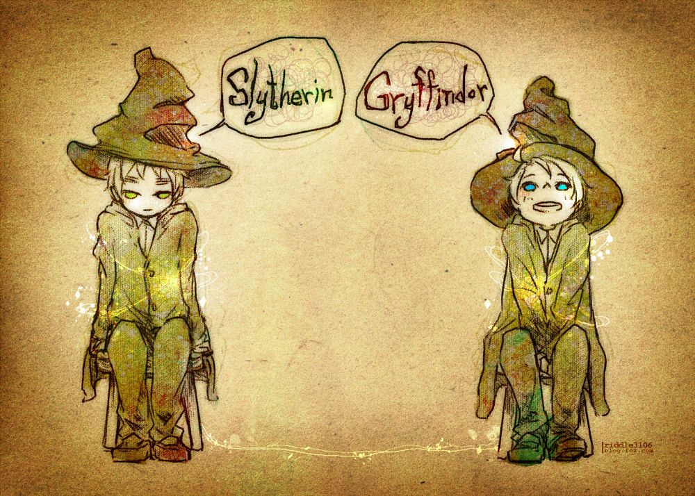 Hetalia/Harry Potter I love seeing England as a Slytherin, many