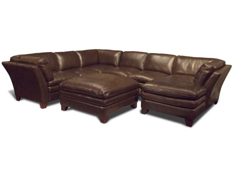Futura 56anaheim Leather Sectional Sectional Ottoman Sectional