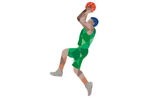 Basketball Player Jump Shot Ball Low Basketball Players Players Basketball