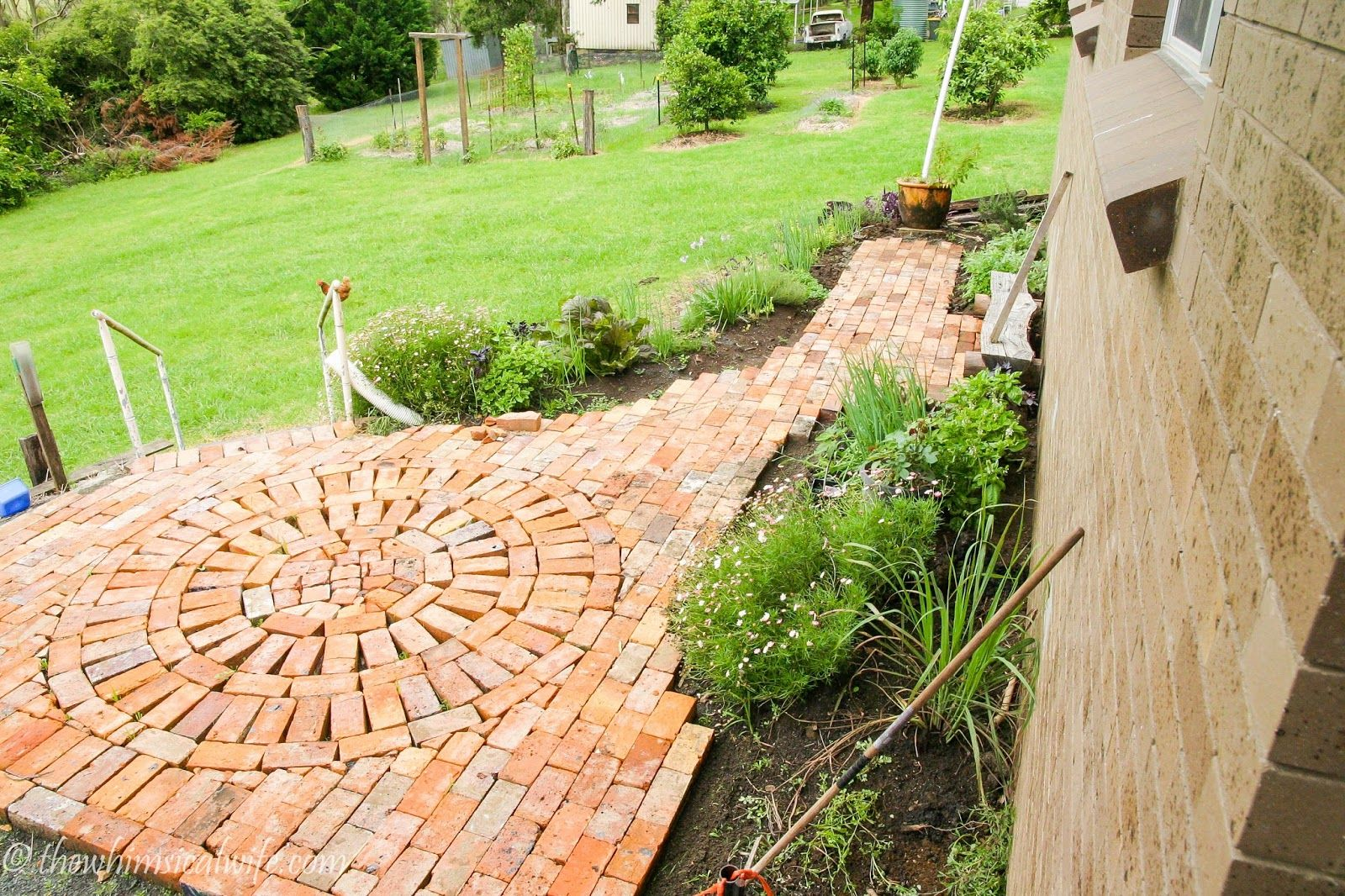 Herb Garden & Rustic Brick Path...... Part 2 | The Whimsical Wife