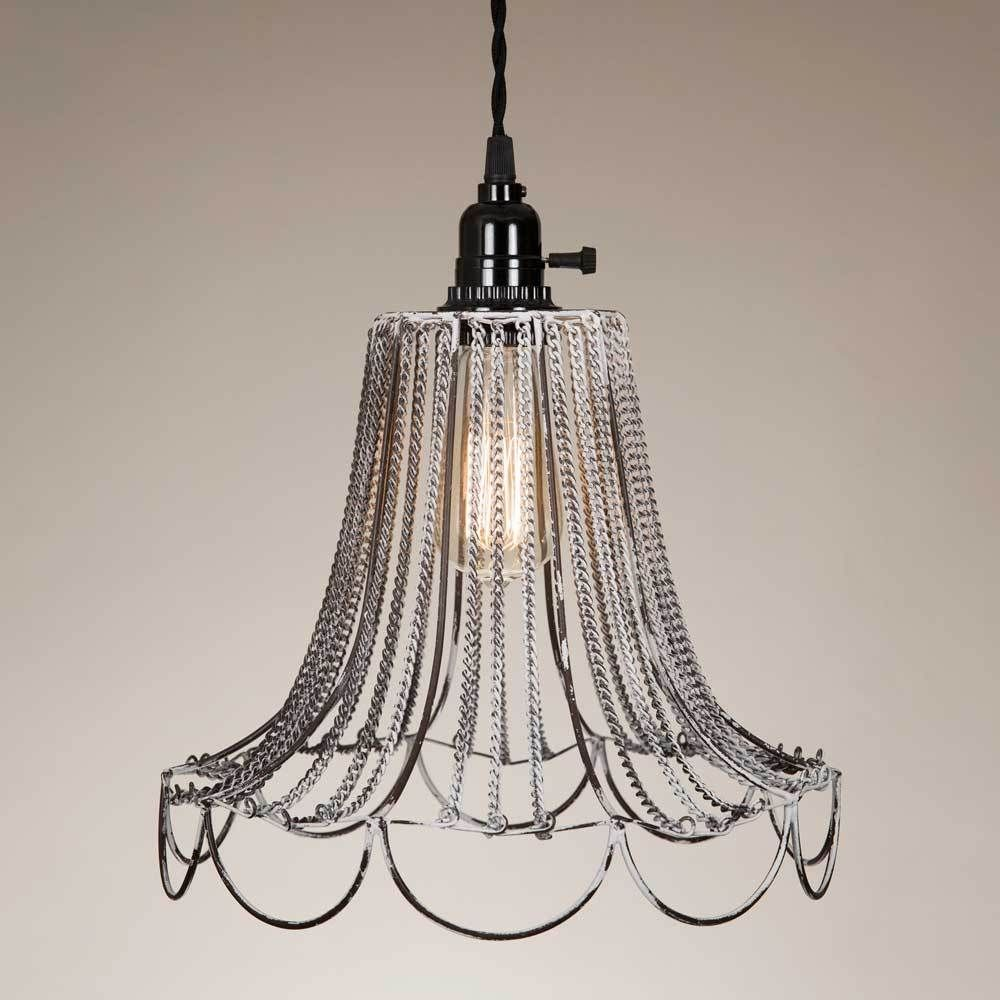 Shabby Chic Wire Pendant Lamp 930102w And Products Wiring A Ceiling Fan To Plug Hooksceiling