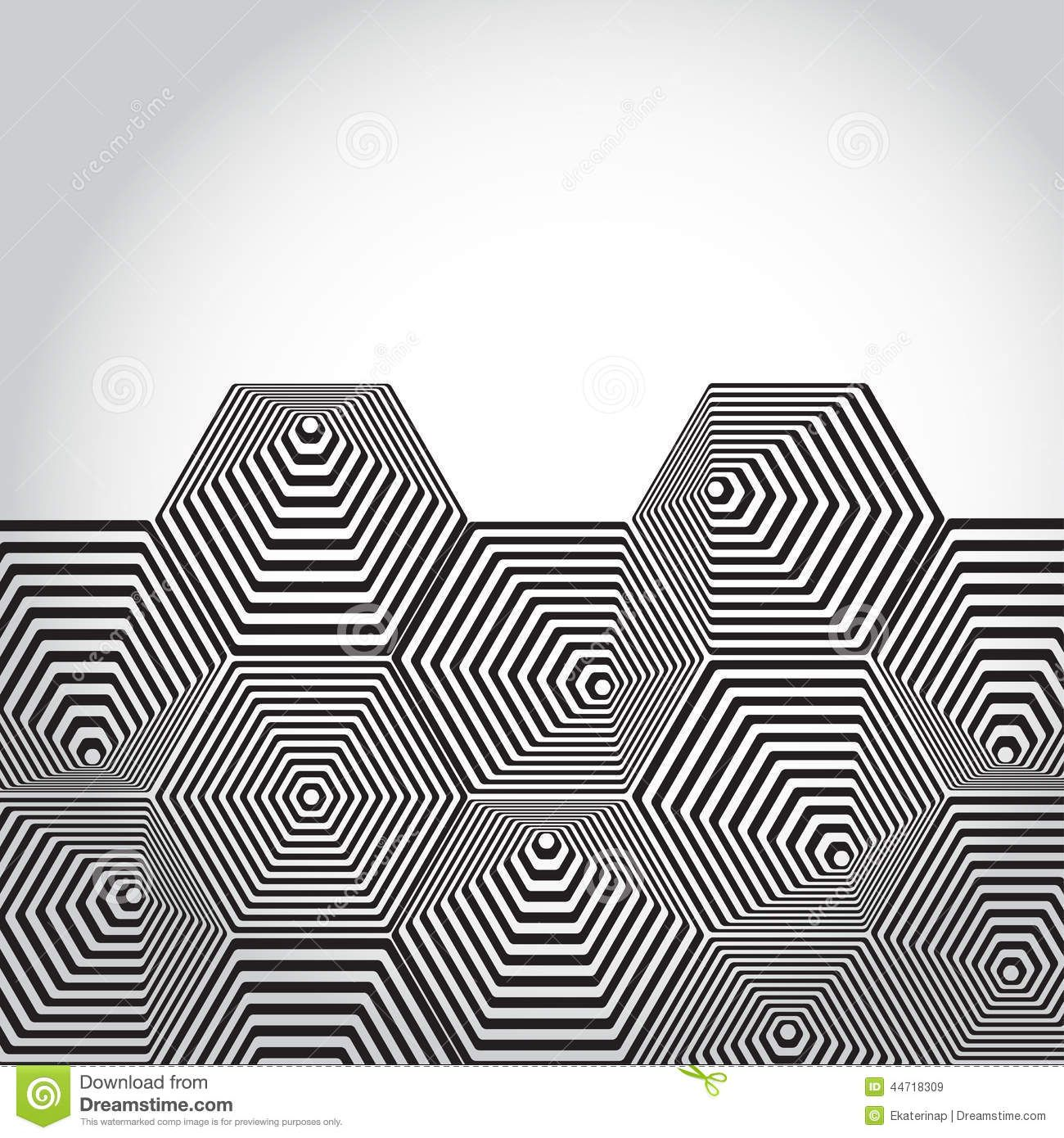 Volumetric 3D Pyramid  Hexagon  Optical Illusion Background