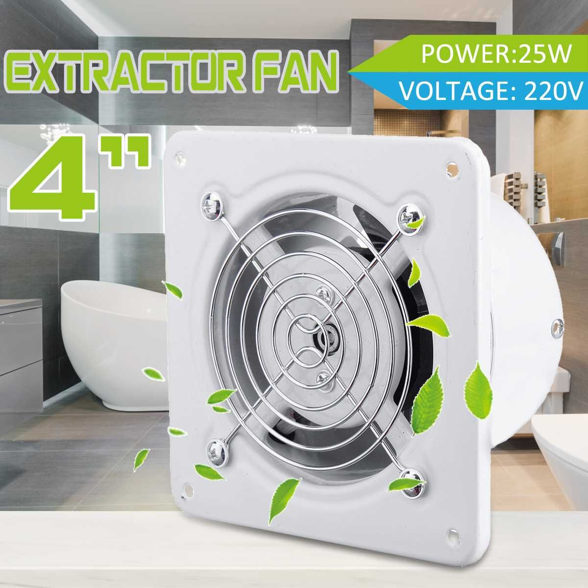 4 25w Home Air Vents Exhaust Fan 220v Window Type Silent Wall Extractor Ventilation Fan Window Bathroom Kitchen Toilet Vents Air Vent Bathroom Windows Window Types