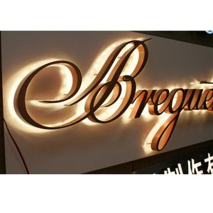 Stainless Steel Metal Sign Letters Led Backlight Custom Signage