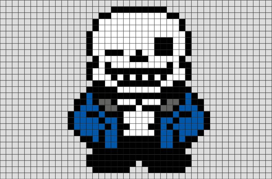 pixel art sans