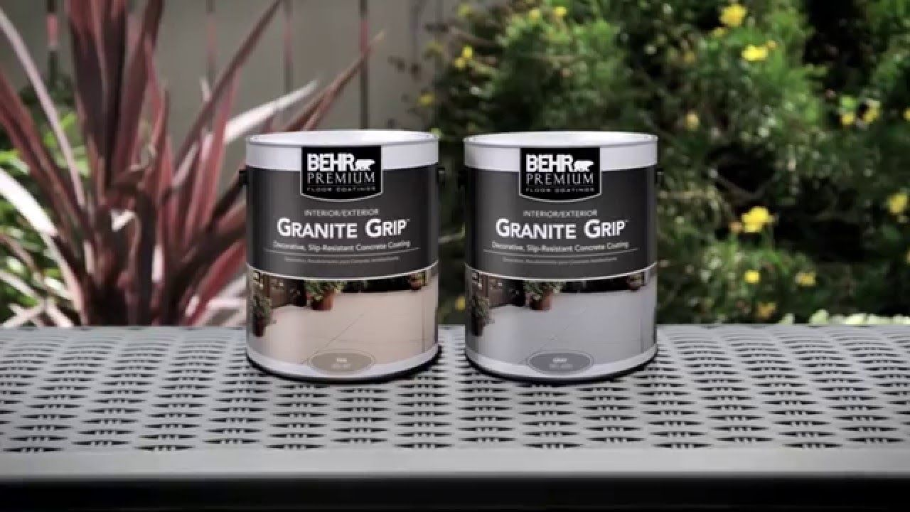 HowTo Apply BEHR PREMIUM® Granite Grip™ YouTube