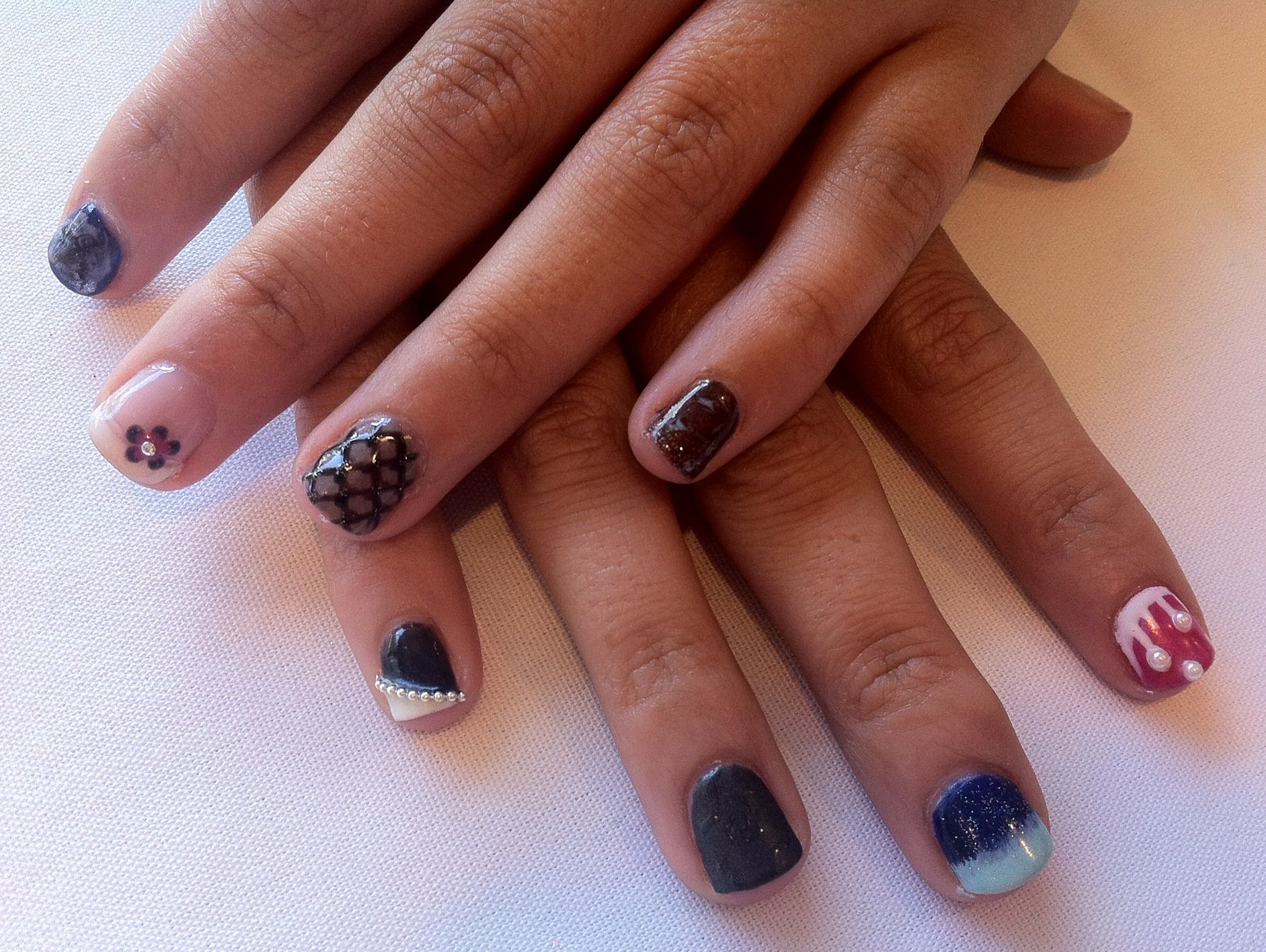 Kerri S First Nail Art Practice From Artistic Nail Design Course