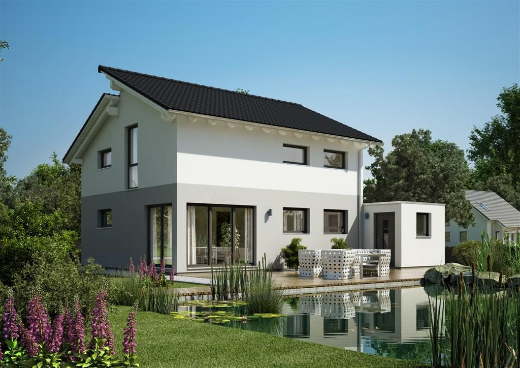 beeindruckende moderne zeitgem es pultdach und modern. Black Bedroom Furniture Sets. Home Design Ideas