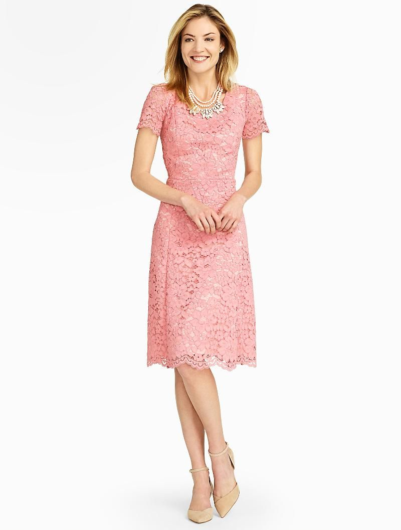 Talbots - Amherst Lace Fit & Flare Dress | New Arrivals | | My Style ...