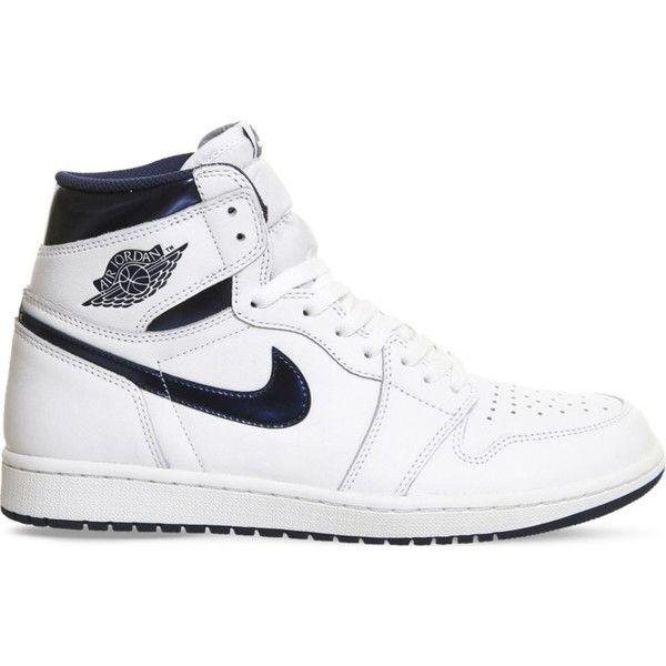 Nike Air Jordan Cuir Blanc Haut En Haut