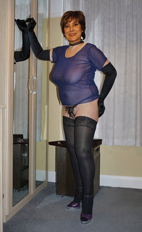 Bbw granny spandex shorts
