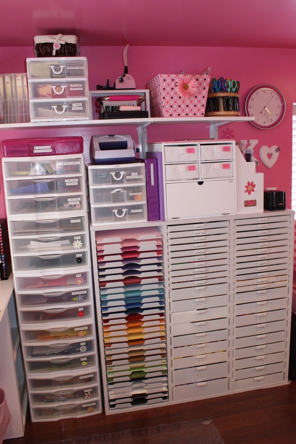 Craft Room In 2019 Craft Room Storage Scrapbook Room