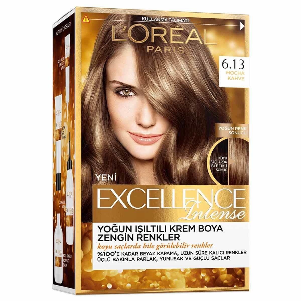 Loreal Excellence Intense Saç Boyası 6.13 Mocha Kahve