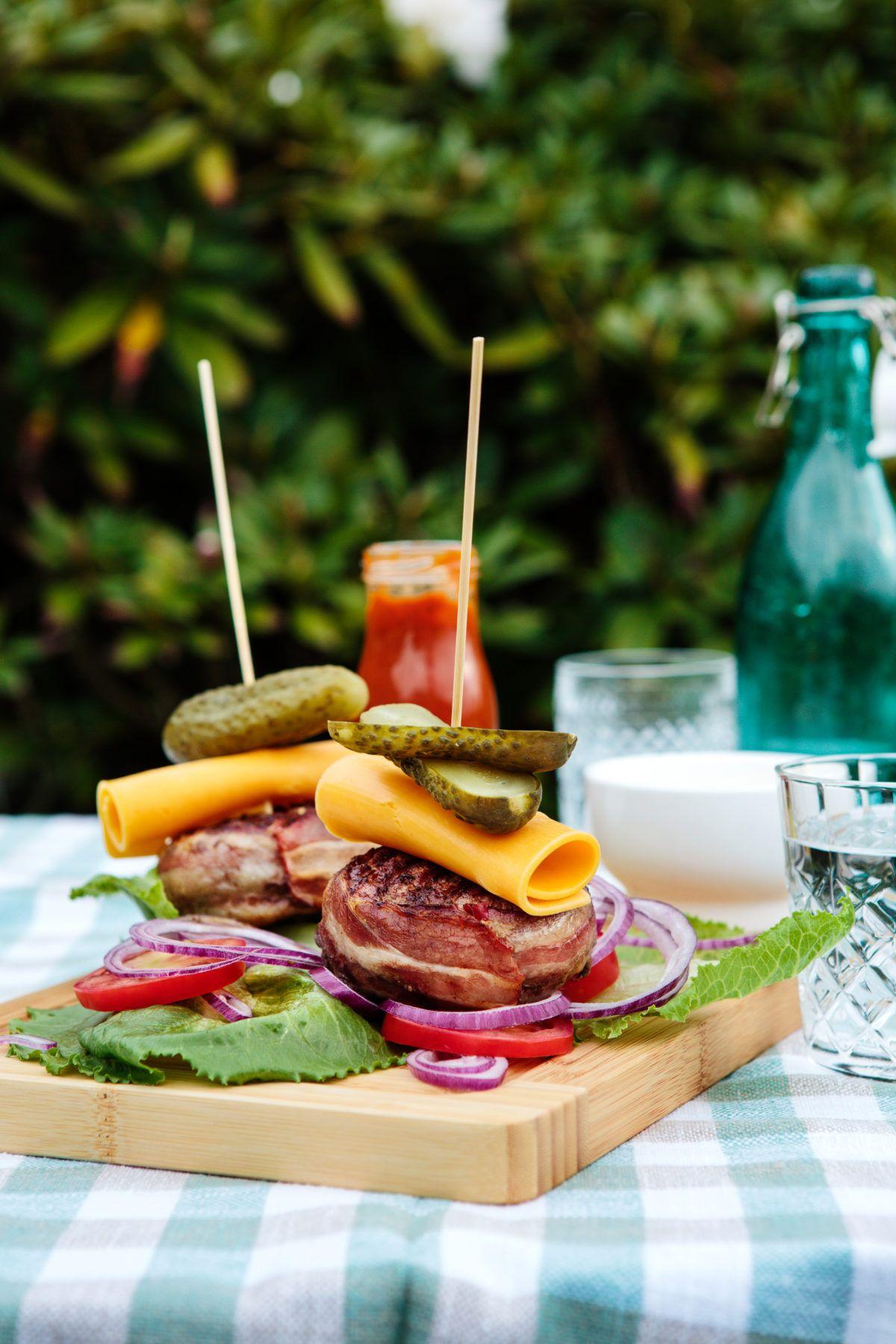 recipe: bacon wrapped burger pinterest [9]
