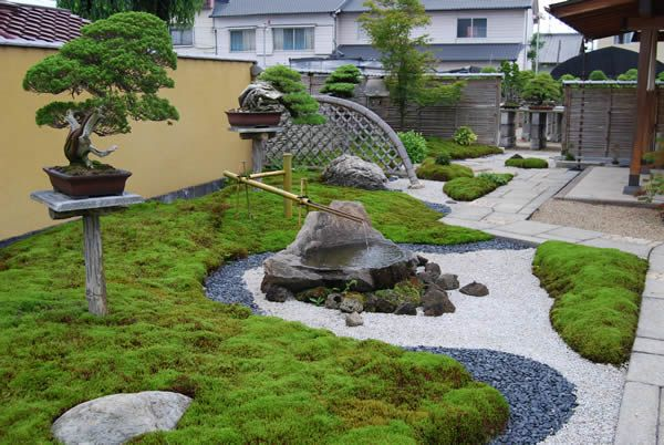 Japanese Garden With Multi-Coloured Rock And Stonework