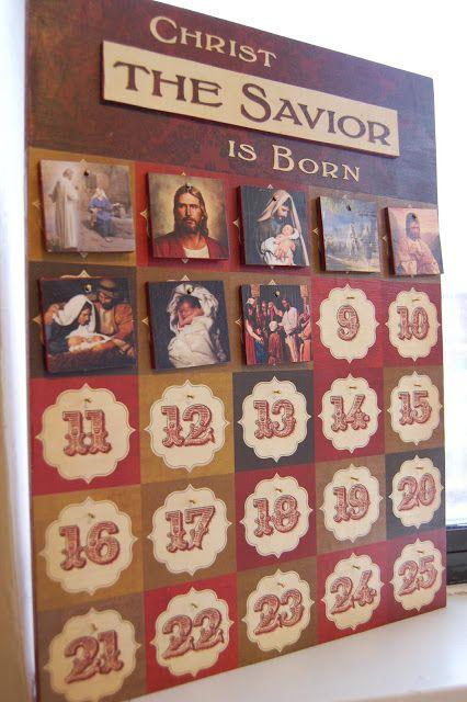 IChrist the Savior is Born Advent Calendar Holidays Pinterest