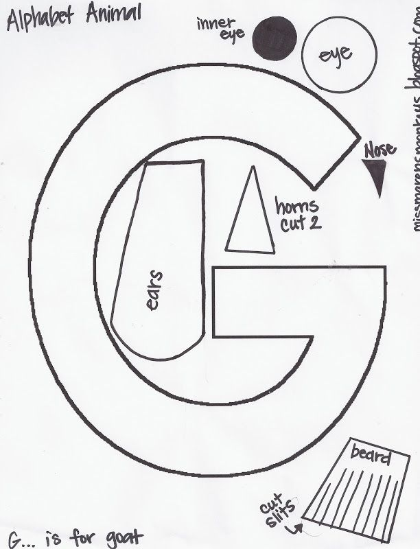 Miss Maren S Monkeys Preschool Preschool Letter Crafts Letter G Crafts Letter A Crafts