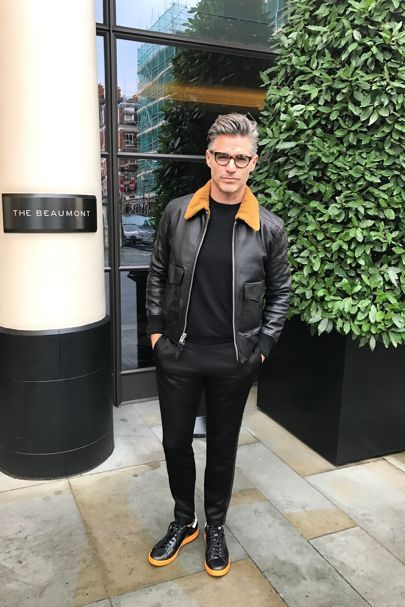 What Eric Rutherford wore to London Fashion Week Men's AW17