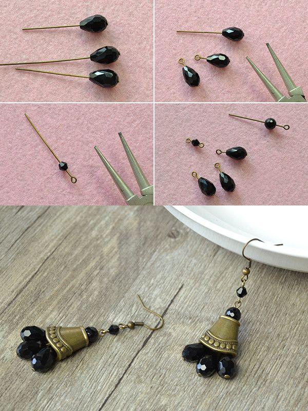 vintage earrings, LC.Pandahall.com will share us the making details soon.  #pandahall