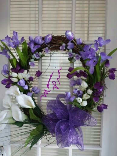 #easter #wreath created and designed by Maria Proietti with crafts from #michaels
