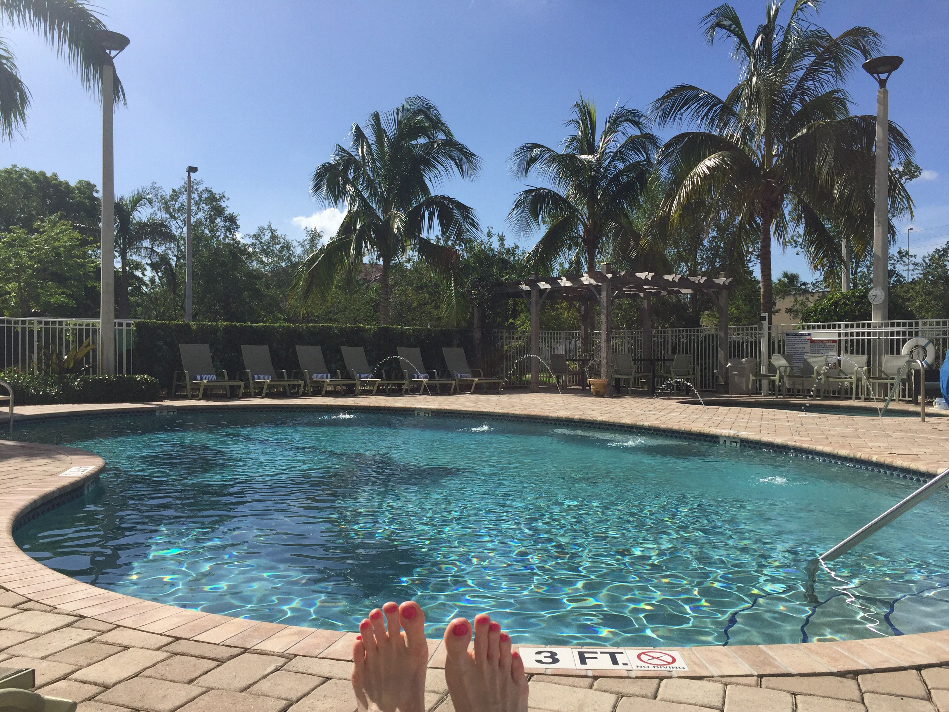 Love Florida Hotel Pools In The Morning Have A Beautiful