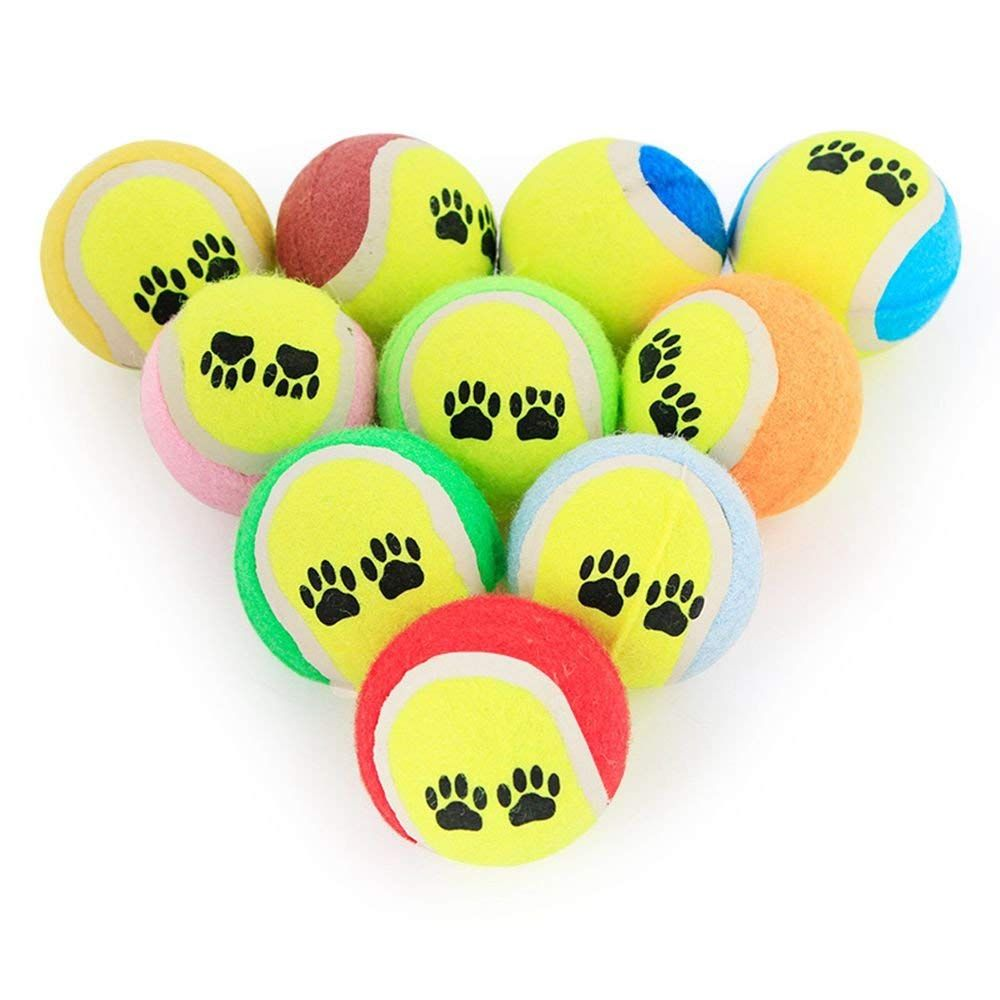 Gadgets Mall Dog Toy Rubber Dog Balls Mini Tennis Balls For Dogs Pet