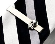 On Sale & Free Shipping Skull Tie Clip - Tie Bar - Tie Clasp - Business Gift - Handmade - Gift Box Included