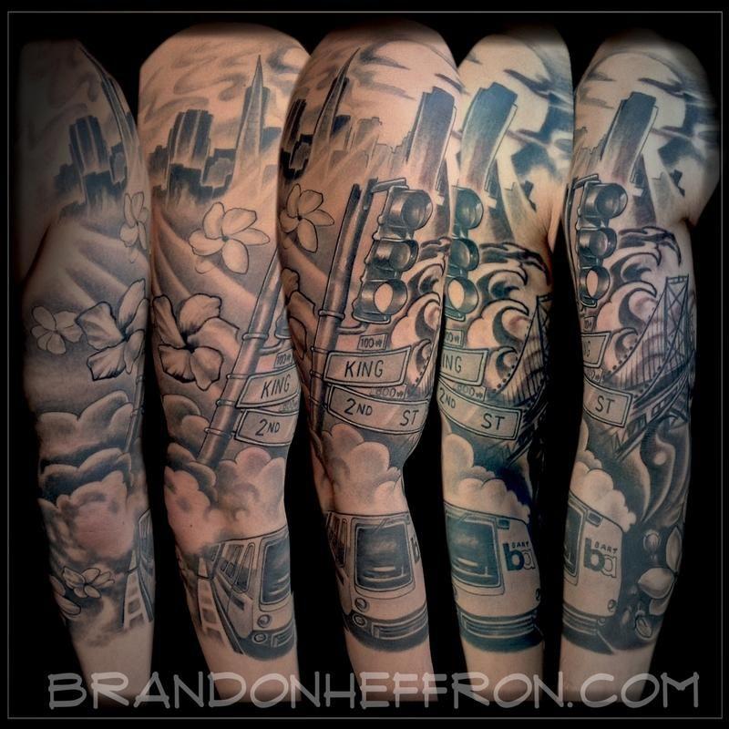 40965dce9 San Francisco Sleeve by Brandon Heffron: TattooNOW : | SF CA tattoos ...