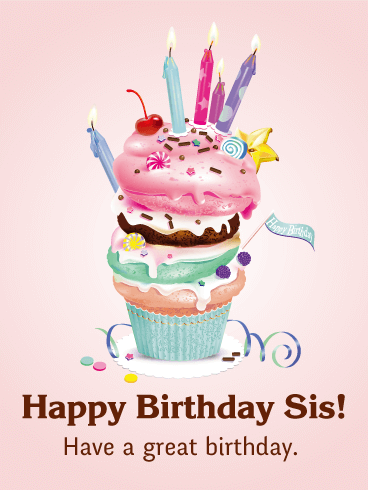 Happy birthday sis card what a treat celebrate your fun loving happy birthday sis card what a treat celebrate your fun loving sister with bookmarktalkfo Images