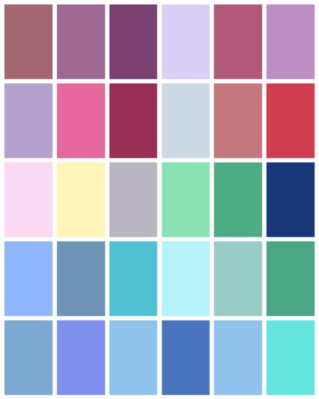 summer color palette sommertyp farbschemen und wandfarbe. Black Bedroom Furniture Sets. Home Design Ideas