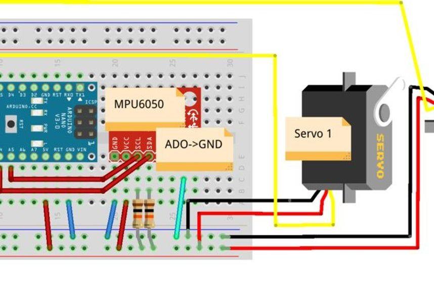 Gyro Stabilizer W Arduino And Servo Arduino Gyro Microcontrollers