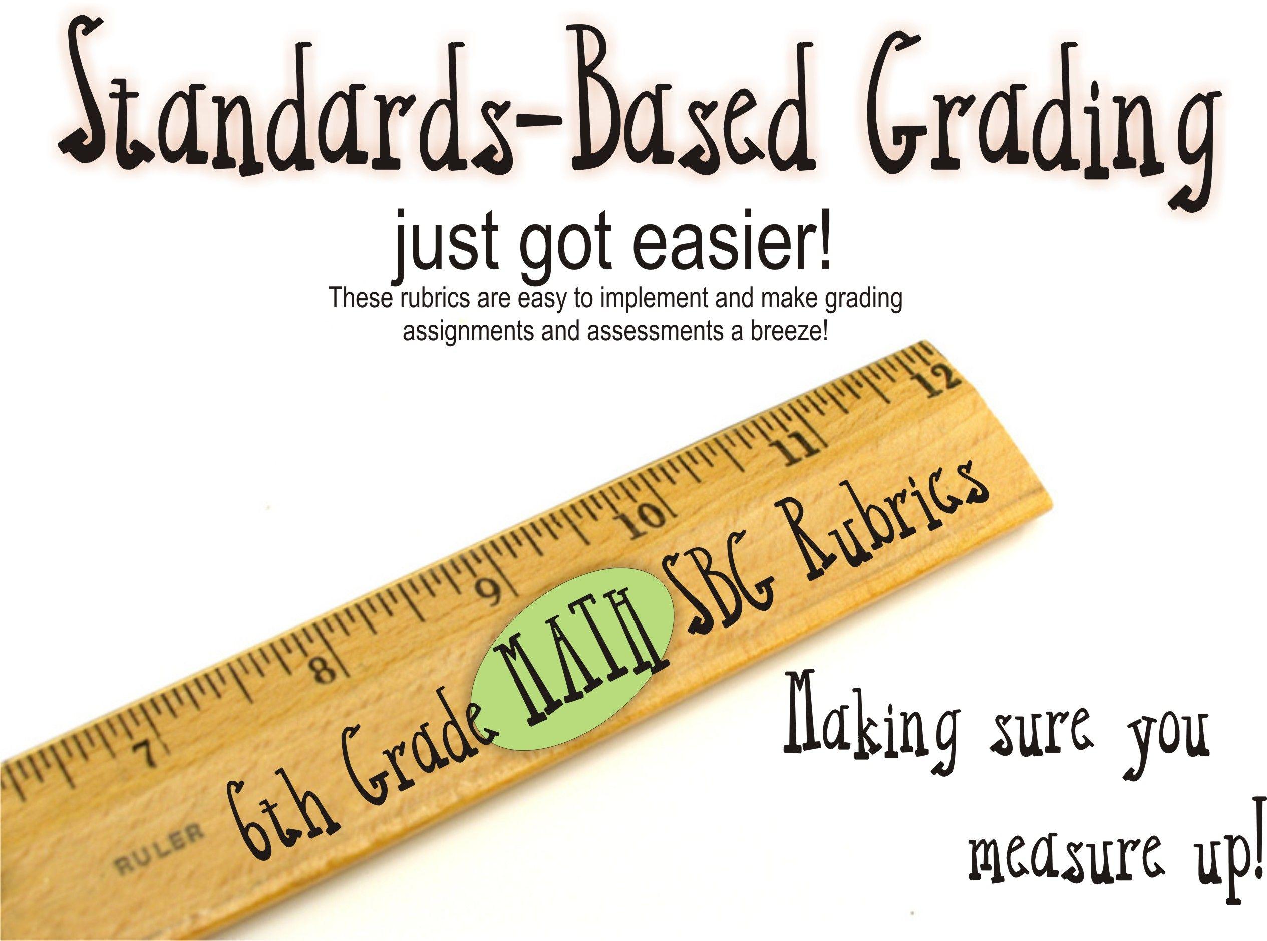 6th Grade Math Common Core Standards Based Grading Rubrics / Scoring ...