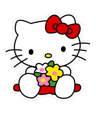 Hello Kitty Wall Sticker x 10