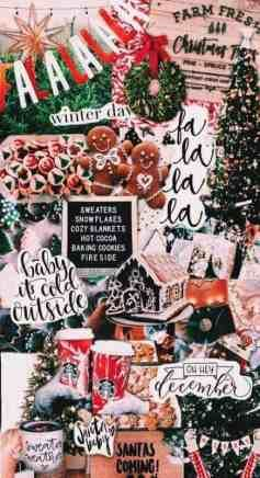 21+ Christmas iPhone Wallpapers you must SEE! -   16 christmas wallpaper collage ideas