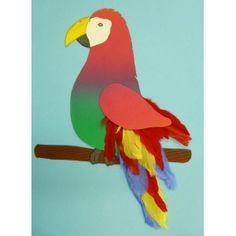 Papagei Basteln Schone Bastelidee Zum Basteln Eines Papageis Affe Basteln Papagei Bastelideen